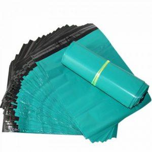 túi đóng gói hàng niêm phong màu xanh